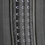 : 3 adjustable hooks on black waist trainer
