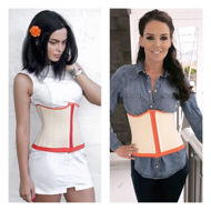 Waist cincher light nude and orange (in Situ)