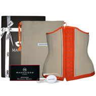 Waist cincher UK light nude and orange (product pack with waist trainer)