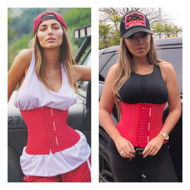 Womens Gym Belt and Waist Trainer - Waist cincher, corset top, body shaper, slimming belt, exercise belt