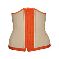 Waist cincher UK light nude & orange (front)