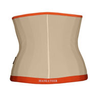 Waist cincher UK light nude and orange (back)