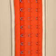 Waist cincher light nude and orange (3 adjustable hooks)
