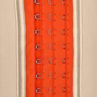 Waist cincher light nude and orange (3 adjustable hooks)