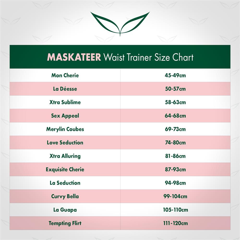 waist trainer size chart